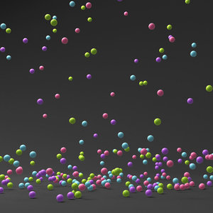 balls falling model