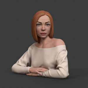 bust girl 3D model