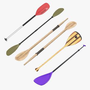 3D paddles 3 model