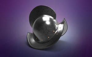 conquistador morion medieval helmet model