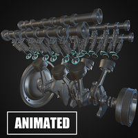 v6 Engine Animated