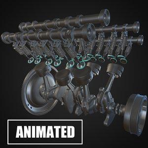 3D model engine v6