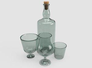 3D bottle tumbler model