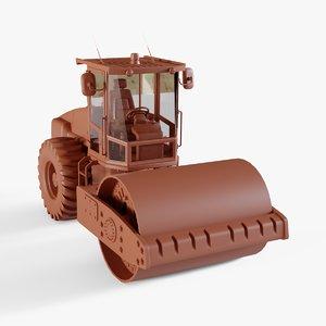 3D road roller model