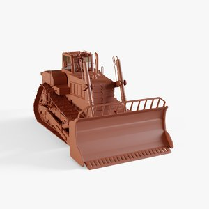 3D track tractor model