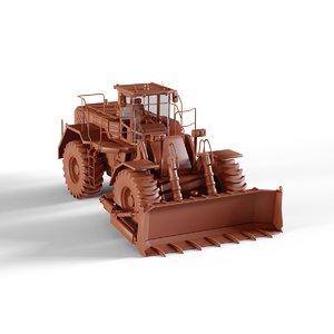 wheel dozer 3D