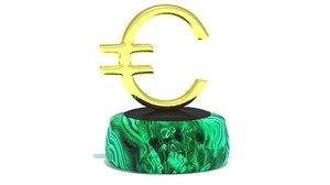 euro sign 3D model