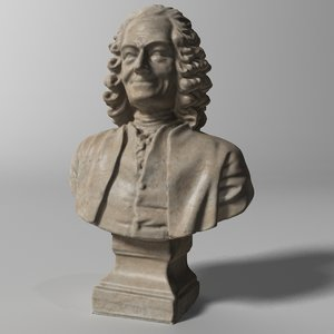 3D model voltaire french writer