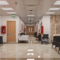interior scene hospital corridor model