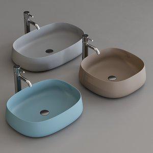 washbasins paddle 3D model
