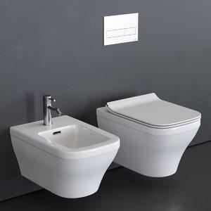 3D forma wall-hung toilet bidet