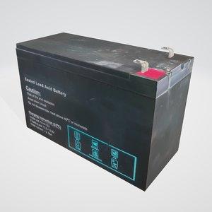 acid battery 3D model