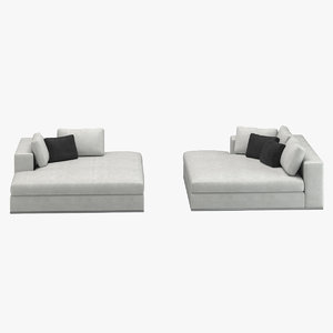 minotti hamilton sofa 3D model