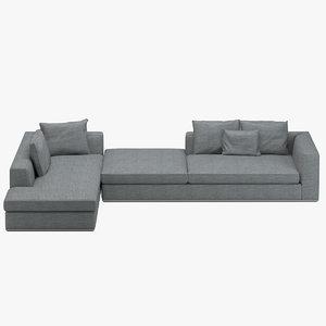 minotti powell sofa 3D model