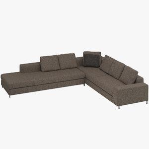 3D minotti williams sofa