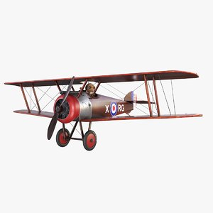 3D toy sopwith camel model