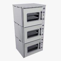 triple oven 3D model