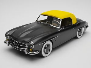 3D mercedes benz 190sl model
