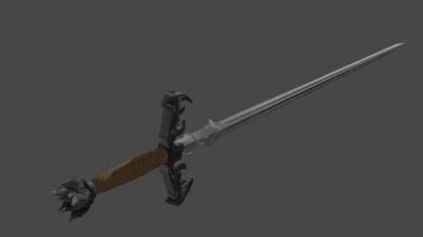3D sword azura model