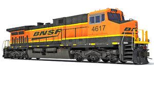3D ge ac4400cw locomotive bnsf model