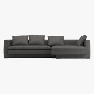 3D molteni sofa hi bridge