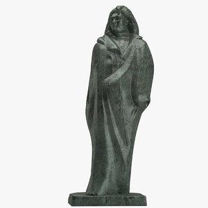 monument honore balzac 3D model