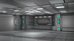 sci fi room scene 3D model
