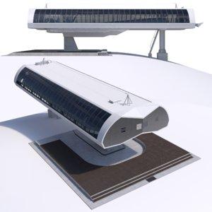 cableway d-line station 3D model