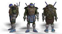 ninja turtle leonardo game model