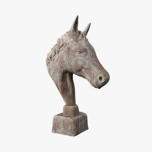 sculpture horse model