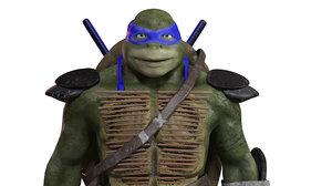 3D ninja turtle leonardo