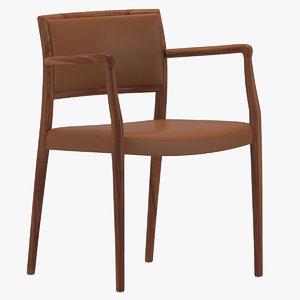 niels moller armchair 3D model