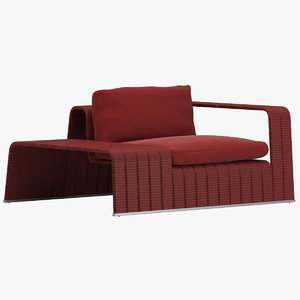 paola lenti armchair 3D