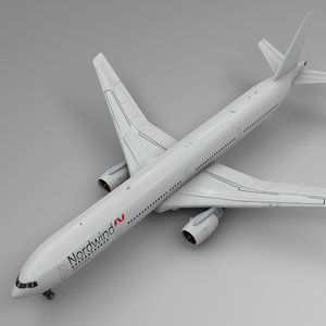 3D norwind airlines boeing 777-300er model