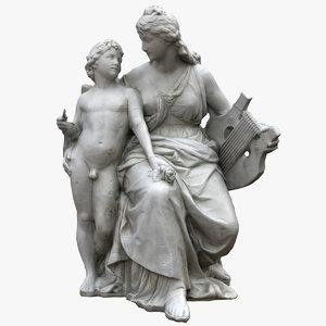 3D allegorical lyric sculpture model