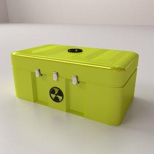 3D radioactive case