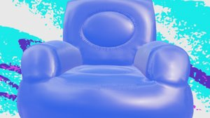 3D inflatable chair model
