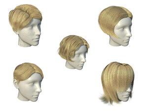3D hair haircut model