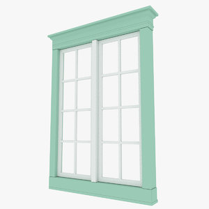 3D house windows