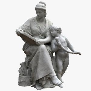 3D allegorical science sculpture