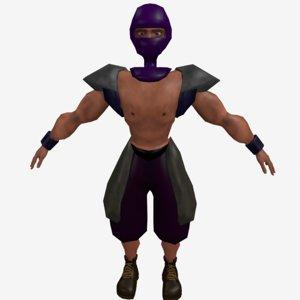 3D ninja gladiator model