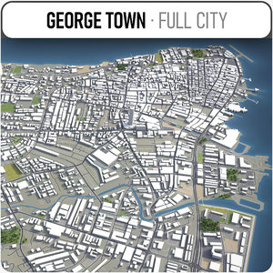 george town surrounding - 3D