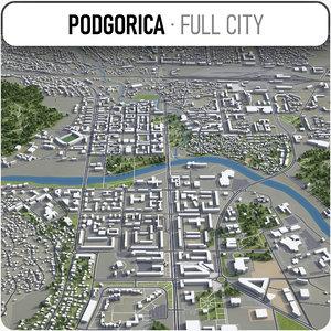 podgorica surrounding - 3D model