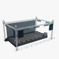 3D interior concert stage