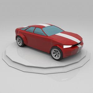 car musclecar 3D model