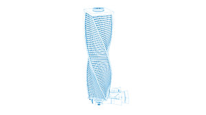 3D model al majdoul tower riyadh