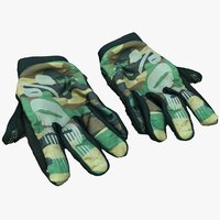 mountainbike gloves 3D model