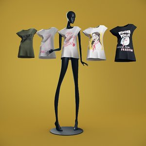3D t-shirts mannequin model