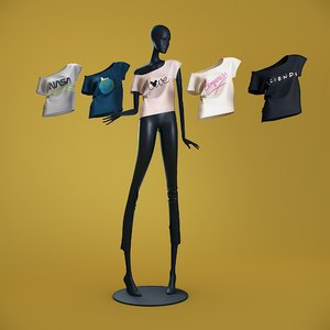 3D t-shirts cloth mannequin model