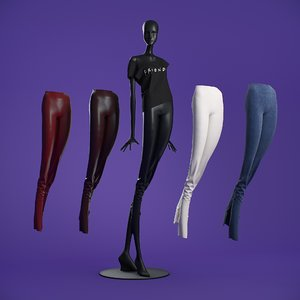 3D leggings cloth mannequin